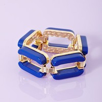 Chained Up Bangle - Blue in  What's New at Nasty Gal