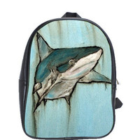 Shark Backpack  King Of The Sea by HeavenlyCreaturesArt on Etsy