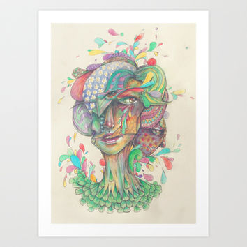 Pops of the Fresh Art Print by Ben Geiger