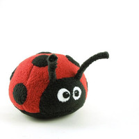 Kids Large Ladybug Stuffed Animal Toy Childrens by bubbletime