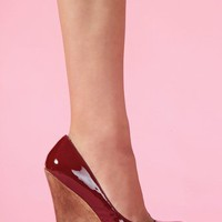 Slick Platform Wedge - Wine  in  What's New at Nasty Gal