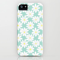Bright Happy Daisies on Mint iPhone & iPod Case by Perrin Le Feuvre | Society6