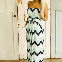 Line By Line Maxi Dress