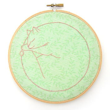 PDF Catnap Embroidery Patterns