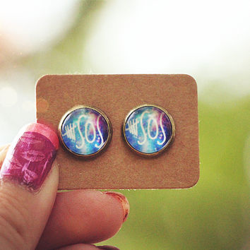 Galaxy 5SOS Graphic Earrings