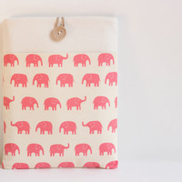 "15 inch Macbook Pro, Retina case 15"" Custom Laptop sleeve / Pink Elephant"