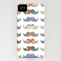 &quot;Mustache Mania&quot; iPhone Case by Bianca Green | Society6