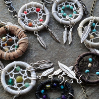 Custom Dream Catcher Jewelry Necklace or Bracelet by MidnightsMojo