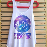 5 second of summer shirt 5Sos shirts 5Sos tank top 5sos galaxy shirt singlet clothing vest tee tunic - size S M