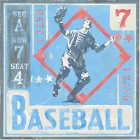 Baseball Metal Sign: Kids and Teens Decor Wall Accent