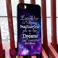 Walt Disney Quote iPhone 5C Case, iPhone 5/5S Case, iPhone 4/4S Case, Samsung Galaxy S3/S4, Samsung Galaxy S5 Cover