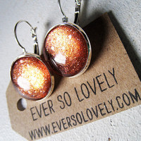 gold dust woman metallic rust red earrings by EverSoLovely