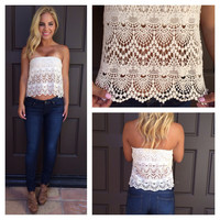 Renaissance Crochet Tube Top - IVORY