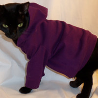 CoolCats Ribbed Knit Hoodie for Catsseveral colors by Rockindogs