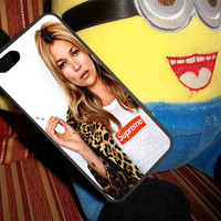 Kate moss supreme leopard Case for iPhone 4/4s,iPhone 5/5s/5c,Samsung Galaxy S3/s4/s5 plastic & Rubber case