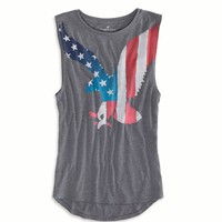 AE EAGLE GRAPHIC MUSCLE TANK