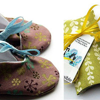 Kimono Style Baby Booties by Seamingly Possible
