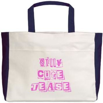 Silly Cute Tease Beach Tote - Girl Tease