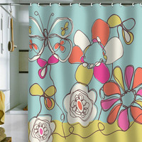 DENY Designs Home Accessories | Rachael Taylor Fun Floral Shower Curtain