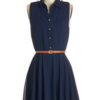ModCloth Short Sleeveless A-line Client Lunch Dress