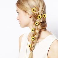 ASOS Pack of 10 Sunflower Hair Grips