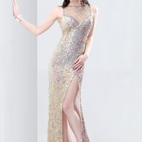 Primavera 9834 Sequin High Neck