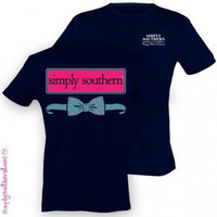 Simply Southern Funny Anchor Bow Logo Sweet Girlie Bright T Shirt