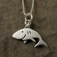 Shark necklace by StickManJewelry on Etsy