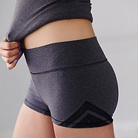 Free People Womens Geo Insert Yoga Shorts -