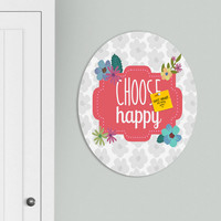 Lara Kulpa Choose Happy Oval Magnet Board