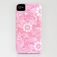 Henna Design - Pink iPhone Case by haleyivers | Society6