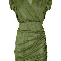 Catherine Malandrino | Ruched silk-chiffon dress | NET-A-PORTER.COM