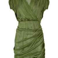 Catherine Malandrino|Ruched silk-chiffon dress|NET-A-PORTER.COM