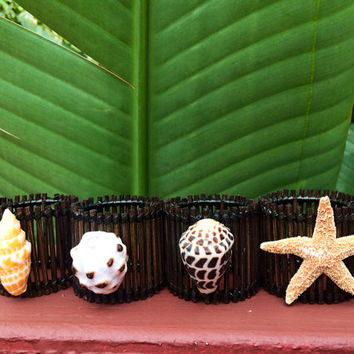 Hawaiian Shell Napkin Rings