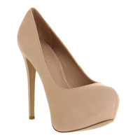 Office Just Right Nude Nubuck - High Heels