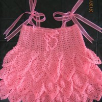 Cyn's Crochet & Knitting Corner: Pink Pineapple Baby Dress