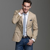 Men's new arrivals - sportcoats & vests - Ludlow sportcoat in chino - J.Crew