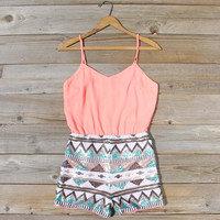 Crystal Wishes Romper in Peach