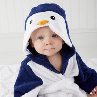 """Wash & Waddle"" Penguin Hooded Spa Robe 