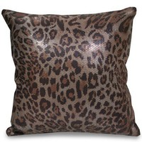 Cat's Meow Printed Sequin Pillow - New Arrivals