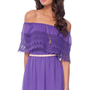 Catarina Off Shoulder Dress in Purple :: tobi