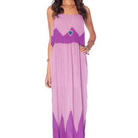 Nice To Pleat You Maxi Dress in Violet :: tobi