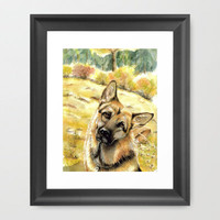 Rex Framed Art Print by Vargamari | Society6