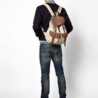 ASOS Backpack with Suede Look Trims
