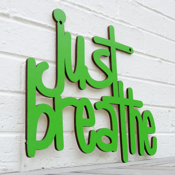 Just Breathe keep calm by spunkyfluff on Etsy