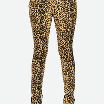 Cheetah Front Jeggings