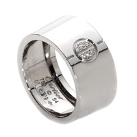 Rare Cartier Love Diamond Ring in White Gold