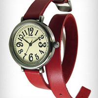 Crimson Cavalry Double-Wrap Watch | PLASTICLAND