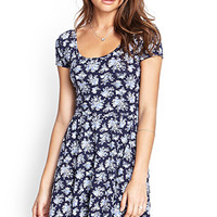 FOREVER 21 Floral Crossback Dress