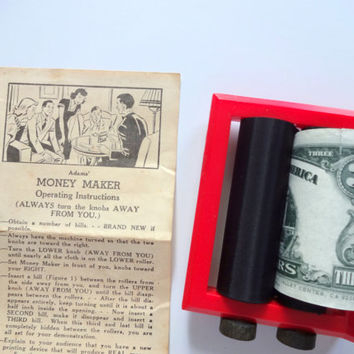 Vintage Adam's Money Maker Magic Trick 1950s